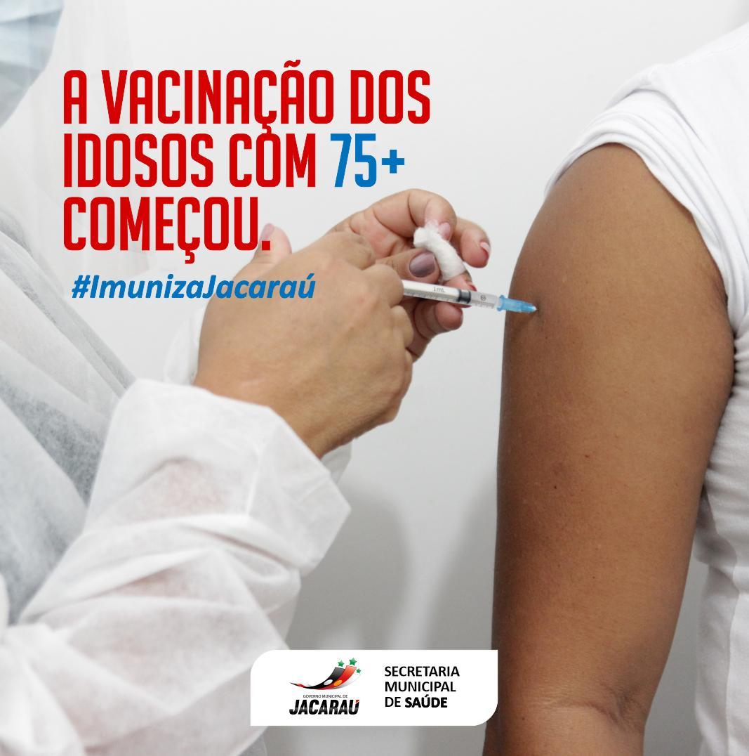 Inicia nesta sexta-feira, a vacinação contra Covid-19, para idosos com 75 anos ou mais.