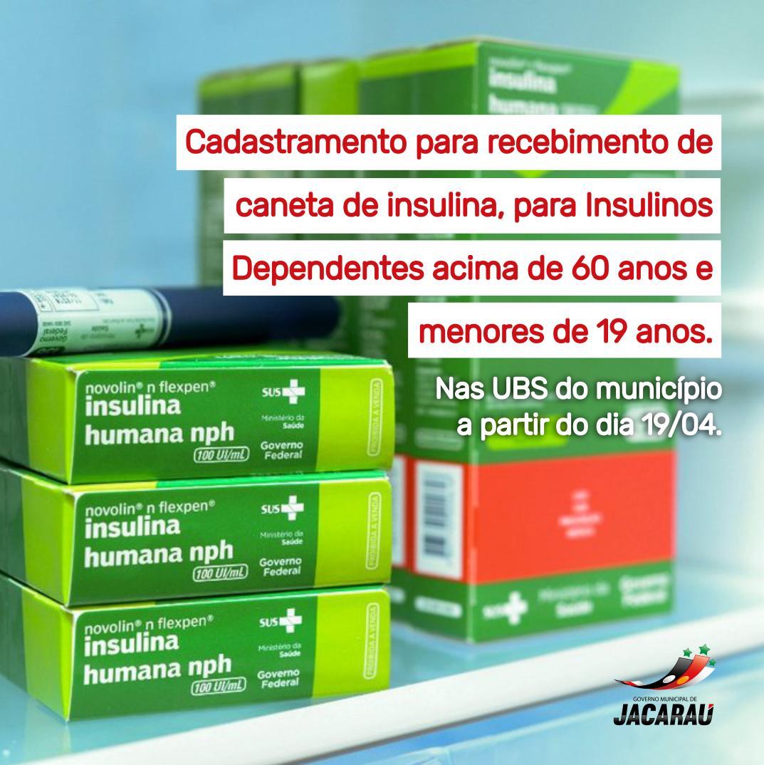 Secretaria de Saúde realiza cadastramento para entrega de canetas insulinas.