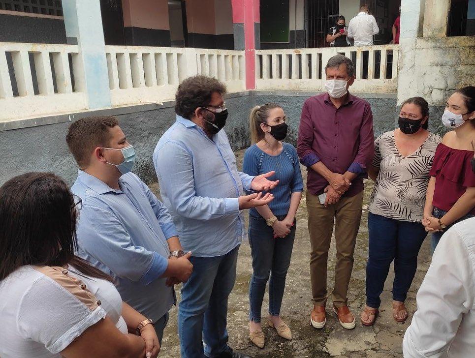 Governo do Estado atende solicitação do Governo Municipal de Jacaraú em visita a Escola Estadual Castro Pinto.