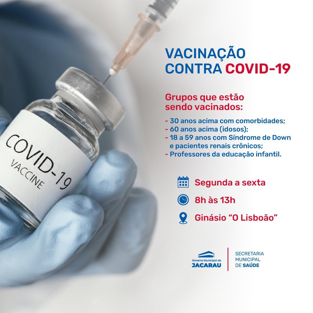 Grupos que estão sendo vacinados contra a Covid-19.