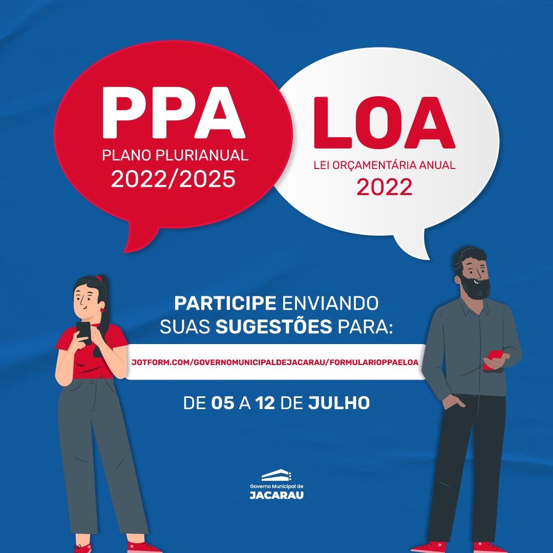 Colabore com o PPA E LOA, enviando sua sugestão online.