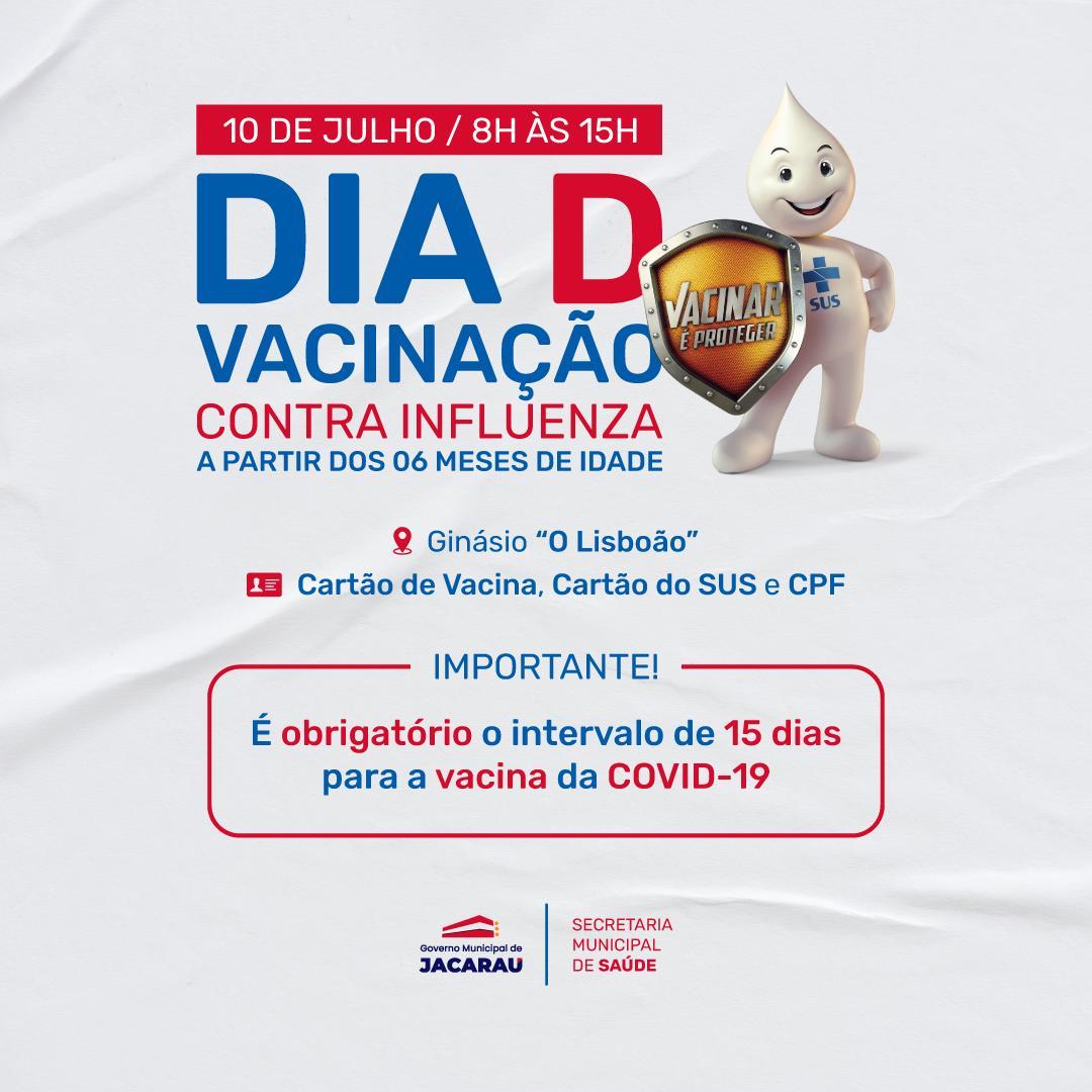 Jacaraú tem Dia D contra Influenza neste sábado.