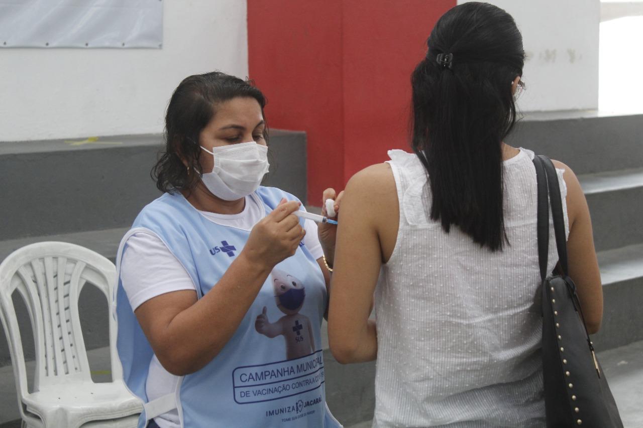 Covid-19: Inicia a vacinação para pessoas a partir dos 25 anos em Jacaraú.