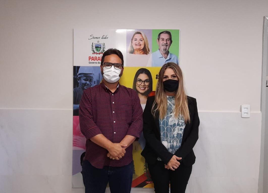 Secretária de assistência social de Jacaraú se reúne com secretário de desenvolvimento humano da Paraíba e firma parcerias para o município.