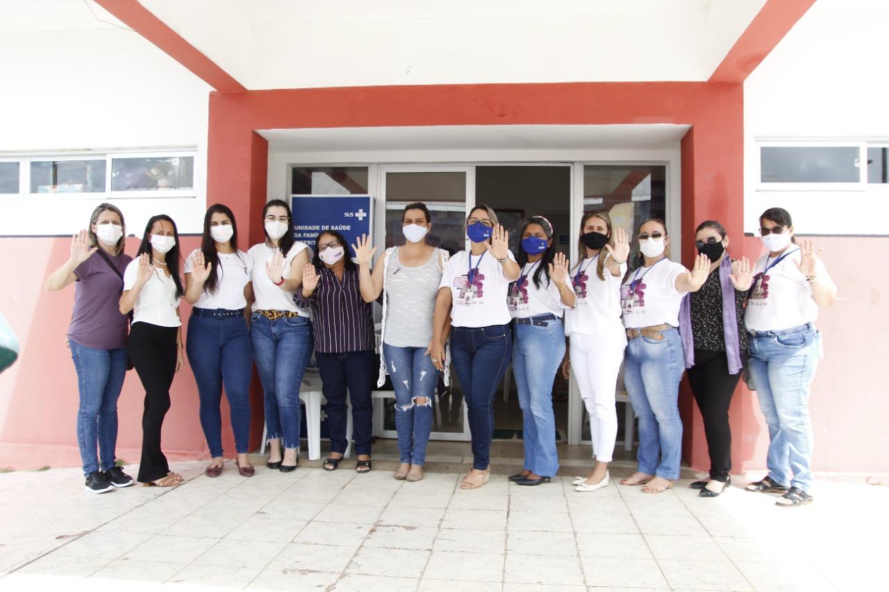Agosto Lilás: secretaria de assistência social e da saúde realizam ações alusivas de conscientização e combate à violência contra a mulher.