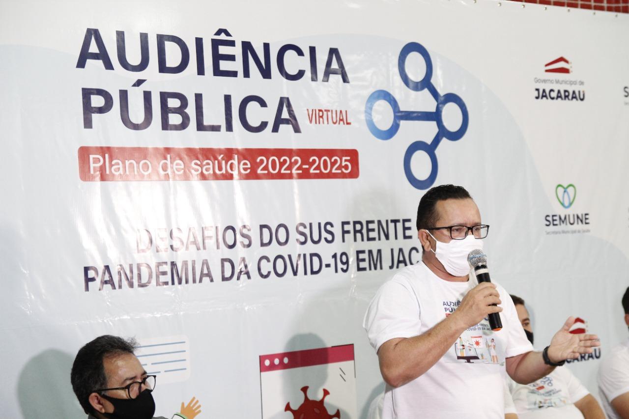 Jacaraú realizou audiência pública virtual da saúde.