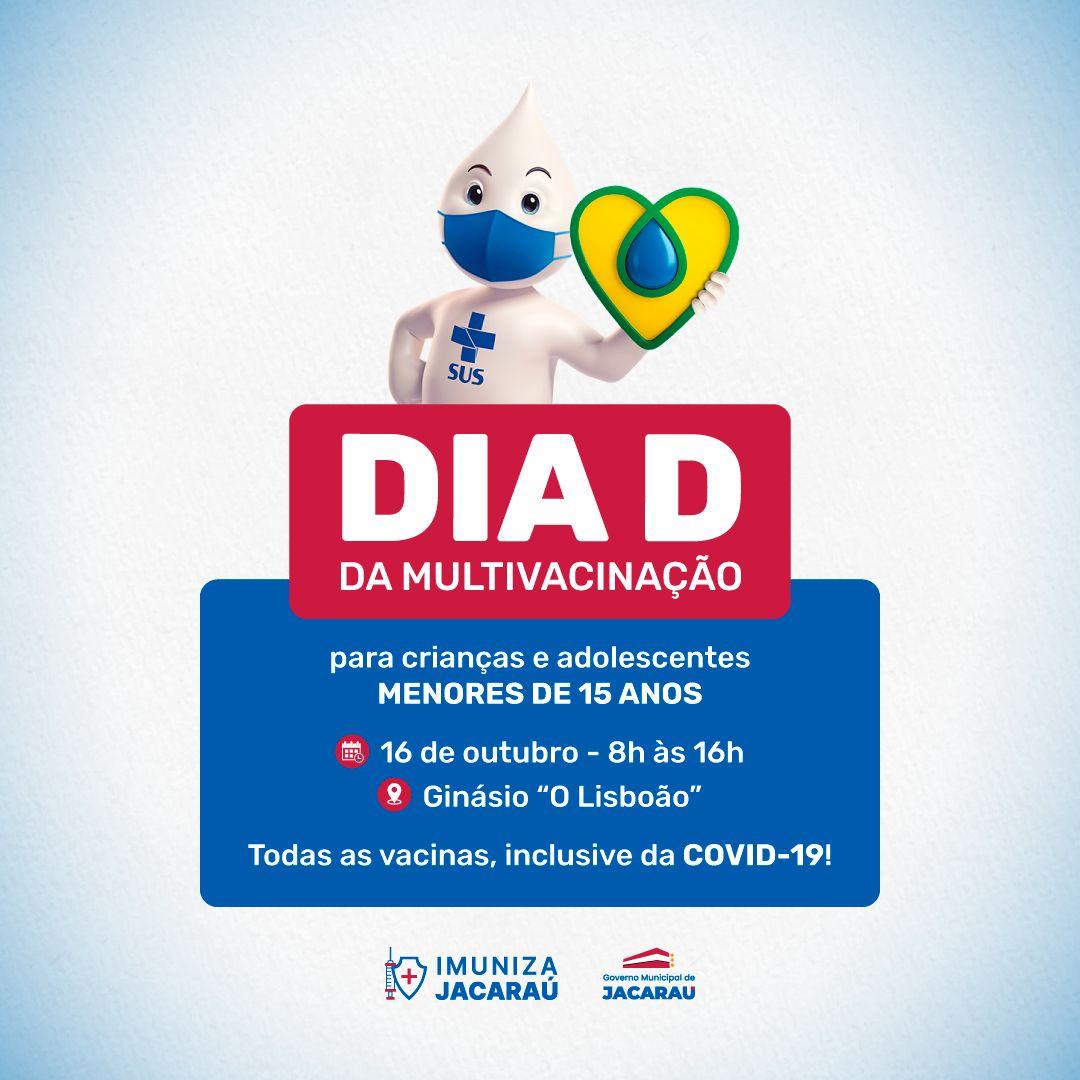 Jacaraú realiza o dia D da multivacinação.